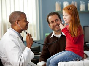 Preceptor with pediatric patient